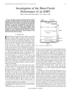 Investigation of the short circuit performance of an IGBT