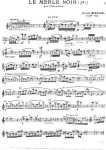 Messiaen - Le Merle Noir (Pour Flute Et Piano) - f