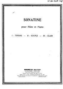 Milhaud - Sonatine pour flute et piano (piano part