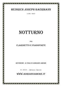 Baermann_Notturno-demo 乐谱