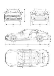 汽车四视图5