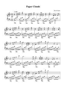 Kevin Kern - Paper Clouds 钢琴谱