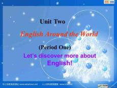 【ppt】新人教版英语高一上module 1《unit 2 english around the world》ppt听说课课件[www.edudown.net]