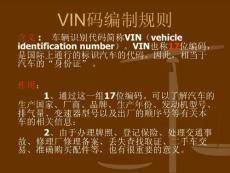 汽车VIN码编制规则