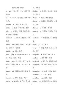 职称英语理工科中级考试B级词汇(1)