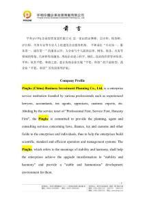 平和(中国)企业投资策划有限公司