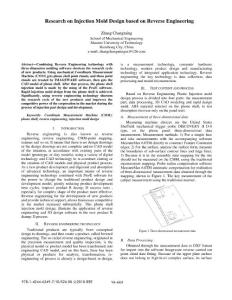 Research on injection mold design based on Reverse Engineering