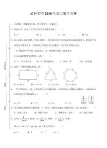 逍林初中2010年初二数学竞赛试题