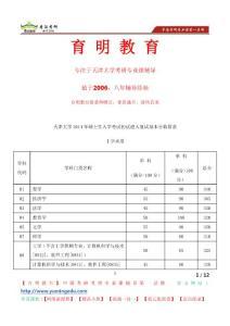 天津大学农业与生物工程学院考研招生专业目录考研真题考研笔记考研辅导