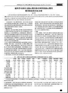 眼科学中国中文核心期刊和中国科技核心期刊期刊特征的对比分析