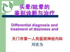 头晕眩晕的鉴别诊断与治疗(PPT-57)