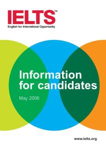 IELTS Information for Candidates