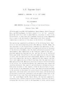 Marbury V.Madison (完整版)马伯里诉麦迪逊案判决书