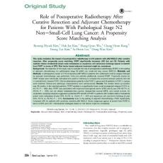 Role of Postoperative Radiotherapy After Curative Resection and Adjuvant Chemotherapy for Patients With Pathological Stage N2 Non-Small-Cell Lung Cancer A Propensity Score Matching Analysis
