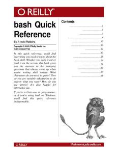 bash Quick Reference 2006