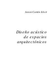 [Architecture Ebook] Diseño Acústico de Espacios Arquitectónicos