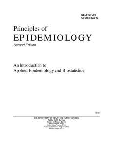 英文原版教材-流行病学