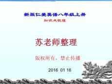 2015-2016版仁爱英语八年级上册知识点梳理