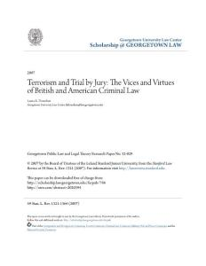 Terrorism and Trial by Jury The Vices and Virtues of British...