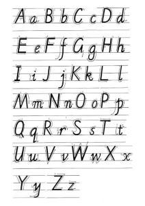 26英文字母书写