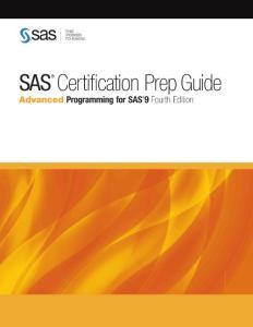 sas certification prep guide advanced programming for sas 9 fourth edition