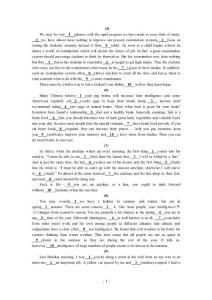 高考英语语法填空专题训练70篇(附答案)