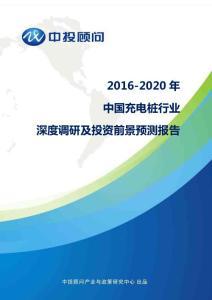2016-2020年中国充电桩行业深度调研及投资前景预测报告