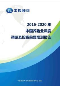 2016-2020年中国养猪业深度调研及投资前景预测报告