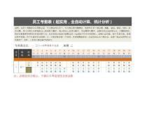 员工考勤表(超实用,全自动计算、统计分析).doc