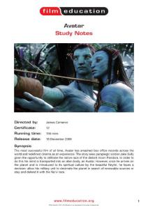 Avatar Study Notes - Film Education