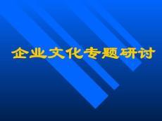 【企业文化】企业文化专题研讨