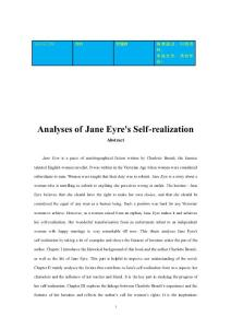 Analyses of Jane Eyre&a..
