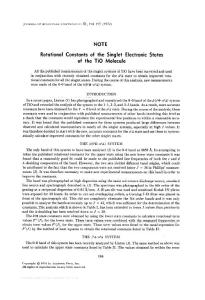 Rotational constants of ..