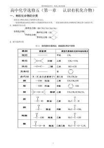 人教版高中化学选修5全册知识点