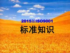 2015版iso9001标准知识(最新)