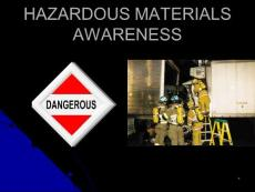 HAZARDOUS MATERIALS AWARENESS - ...