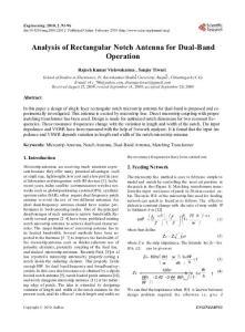 Analysis of Rectangular Notch Antenna for Dual-Band Operation