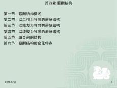 薪酬管理董福荣素材包 第四章  薪酬结构