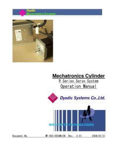 Mechatronics Cylinder - Mirai Inter-Tech Operation Manual