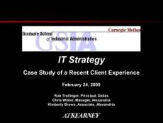 【经管励志】科尔尼作品--IT企业战略与策略规划