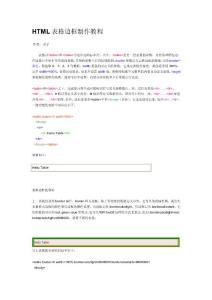 2、HTML基础:表格边框制作教程