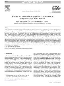 Reaction mechanisms in the geopolymeric conversion of