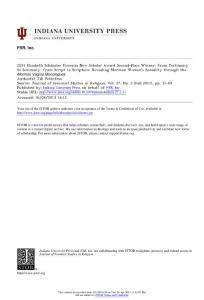 2011 elisabeth schüssler fiorenza new scholar award second-place winner from testimony to seximony, from script to scripture revealing mormon women´s sexuality through themormon vagina monolo..