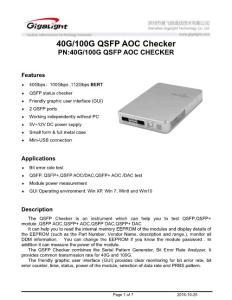40 & 100G QSFP AOC CHECKER datasheet V1.0.doc