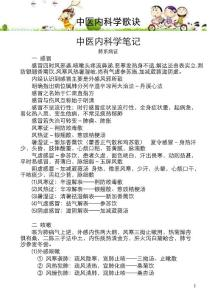 中医内科学歌诀[1]