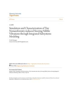 Simulation and Characterization of Tire Nonuniformity-induced