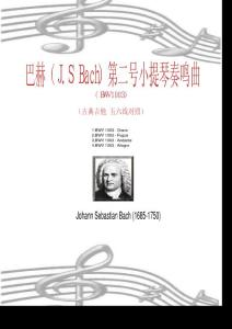 巴赫(J.S Bach)第二号小提琴奏鸣曲(BWV1003)(古典吉他 五六线对照)