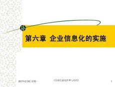 《企业信息化管理与应用教学课件》第六章 企业信息化的实施