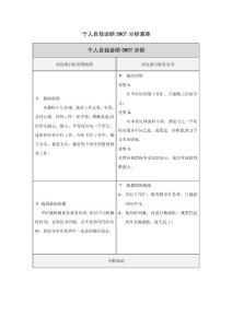 吕永鹏老师自己诊断分析表