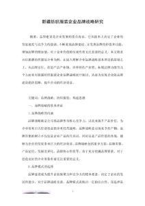 新疆纺织服装企业品牌战略研究.doc